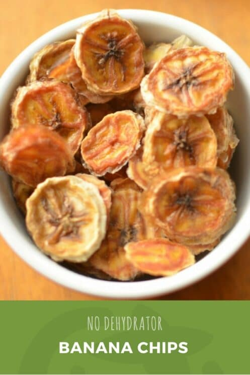 Banana Chips without a Dehydrator