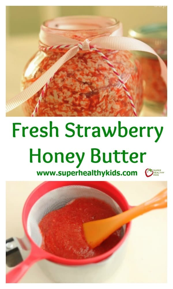 Fresh Strawberry Honey Butter. A great addition to your Valentine's Day breakfast!