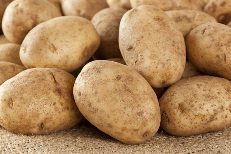 Russet potatoes for homemade french fries recipe