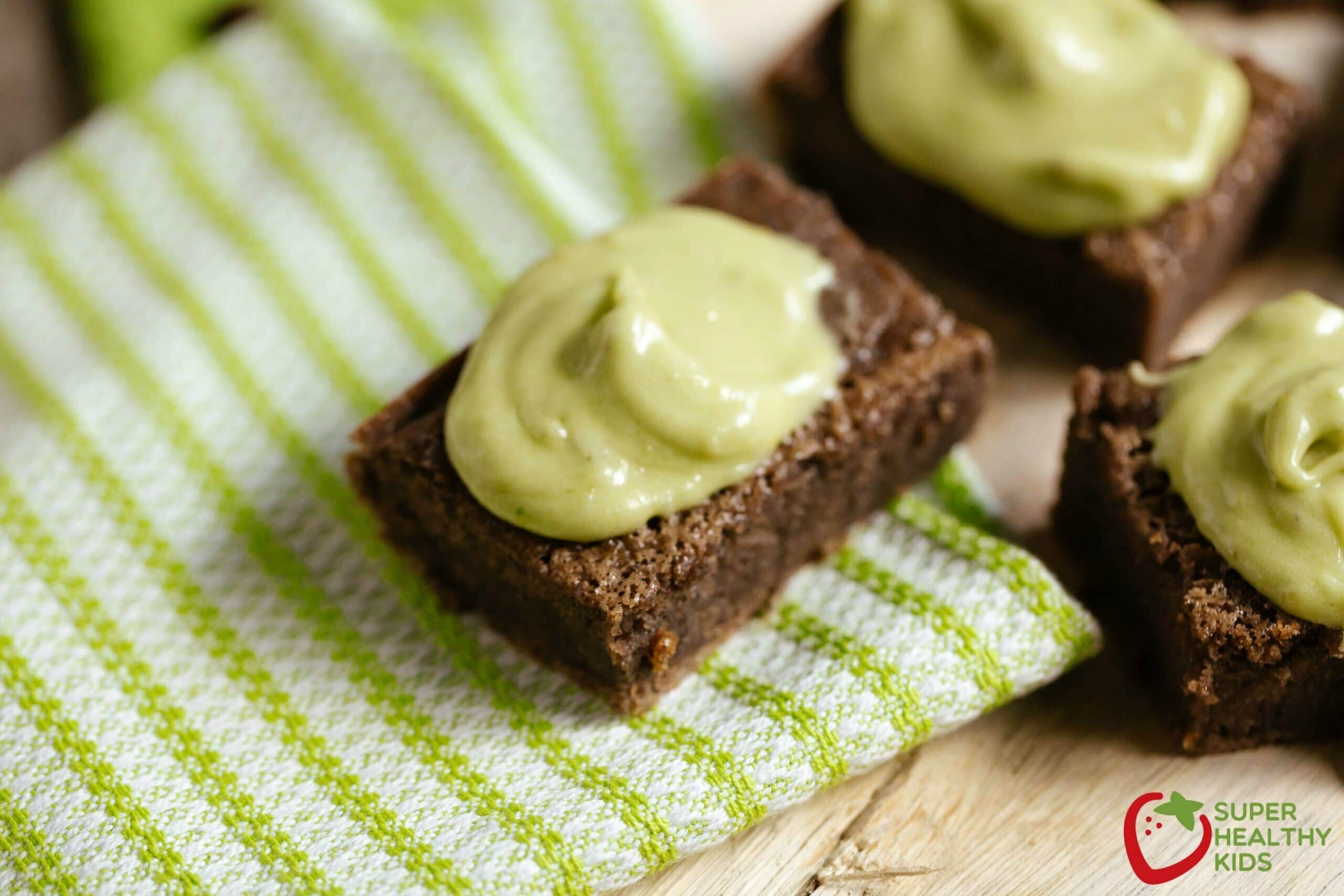black bean brownie recipe and dye free green frosting healthy