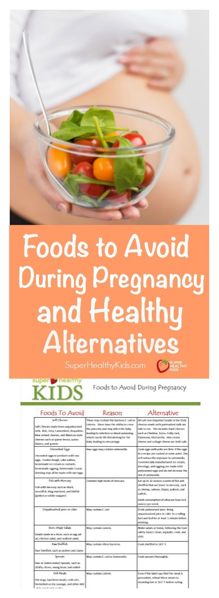 Foods to Avoid During Pregnancy and Healthy Alternatives. This comprehensive guide will help you make the best decision for you and your baby AND give you an alternative if you find one of your favorite foods on the list.