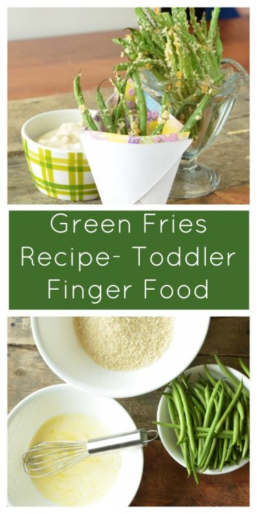Green Fries Recipe- Toddler Finger Food