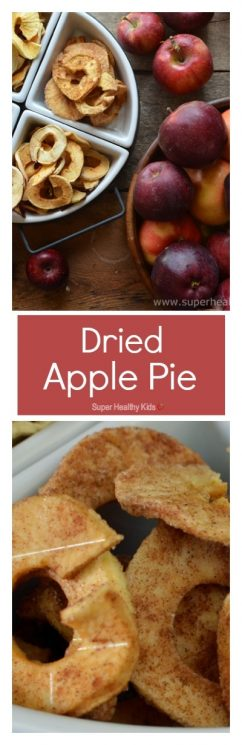 Dried Apple Pie! You must try these dried apples- My kids think they taste like candy! MMMM... https://www.superhealthykids.com/dried-apple-pie/
