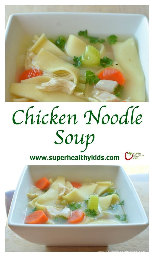 FOOD - Our Family's Favorite Chicken Noodle Soup Recipe {The Family Flavor}. Hands down, our #1 favorite recipe for Chicken Noodle Soup! https://www.superhealthykids.com/chicken-noodle-soup-the-family-flavor/