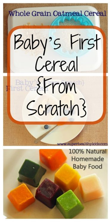 Baby's First Cereal {From Scratch}