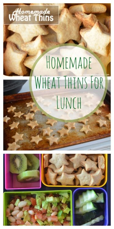 Homemade Wheat Thins For Lunch