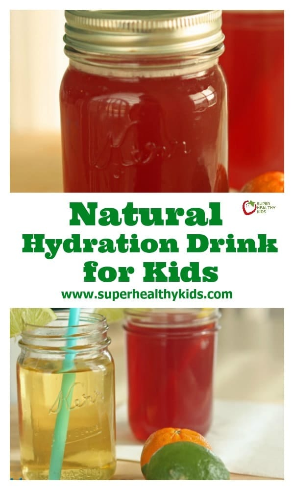 Natural Hydration Drink Recipe for Kids. Hydrate naturally with this easy recipe!