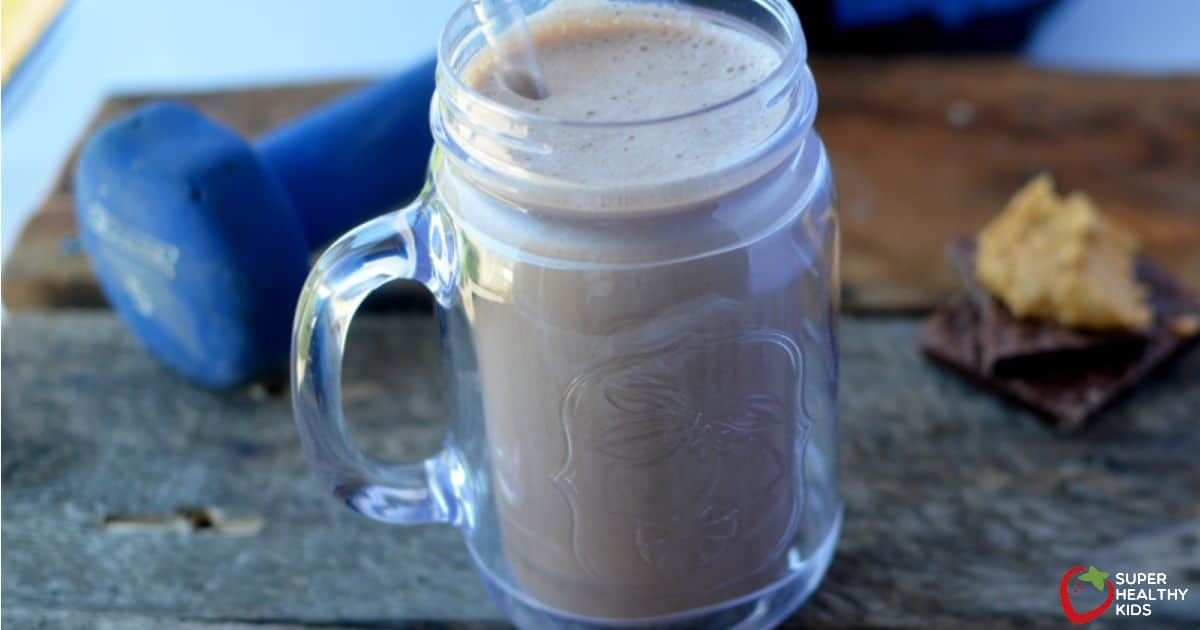 Chocolate Peanut Butter Protein Shake Recipe- For Kids ...
