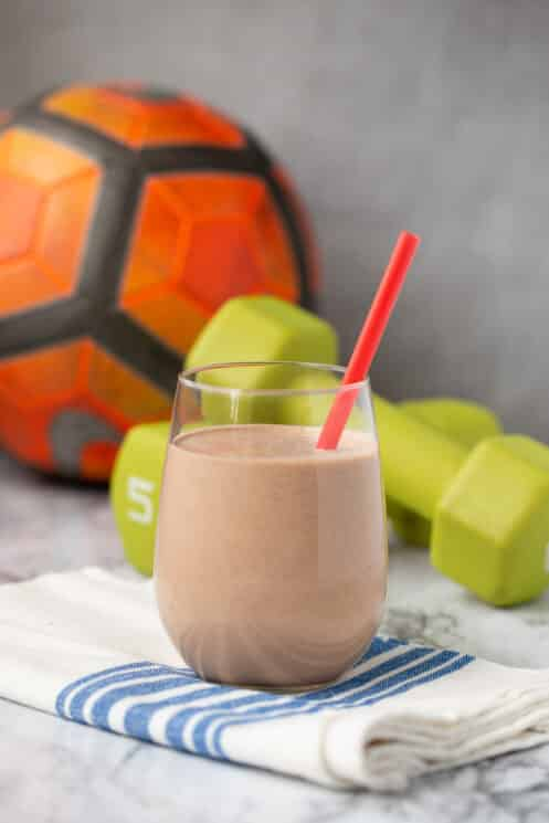 creamy chocolate protein shake for kids
