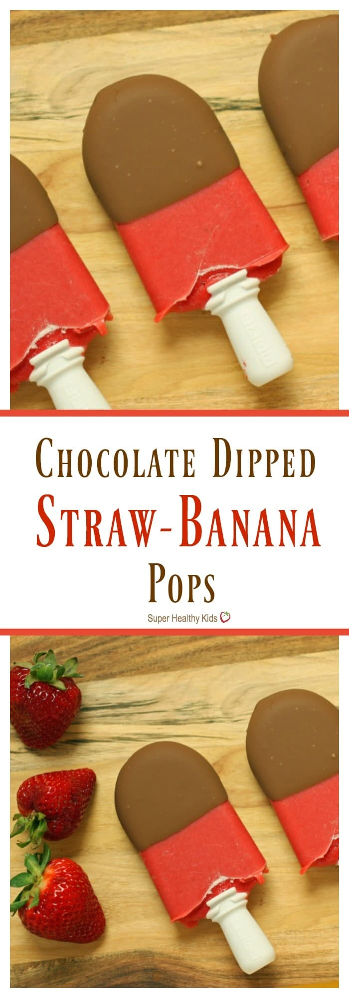 FOOD - Chocolate Dipped Straw-Banana Pops. A healthy treat to hit that sweet spot! https://www.superhealthykids.com/chocolate-dipped-straw-banana-pops/