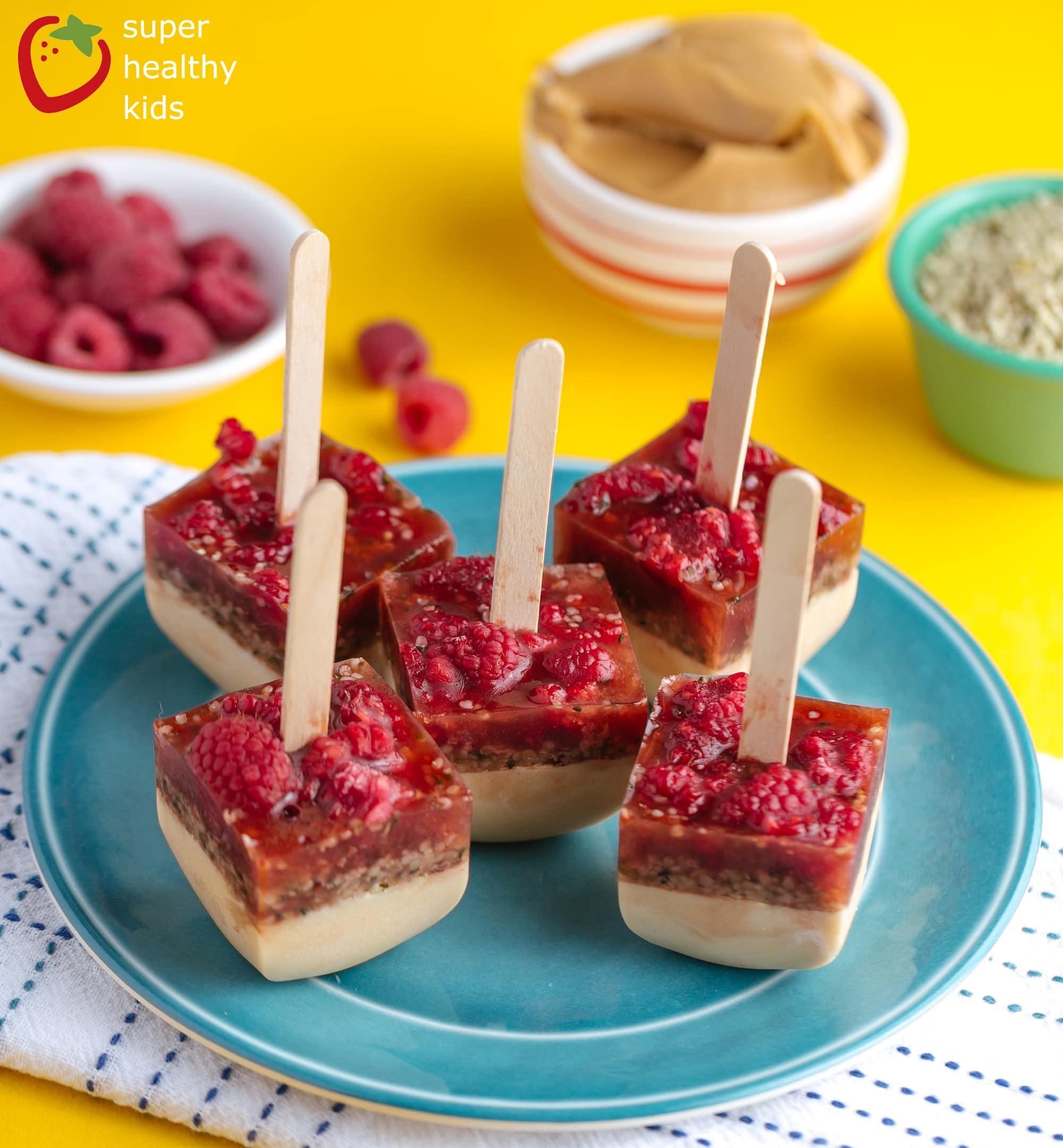 Frozen Peanut Butter Berry Pops | Healthy Ideas for Kids