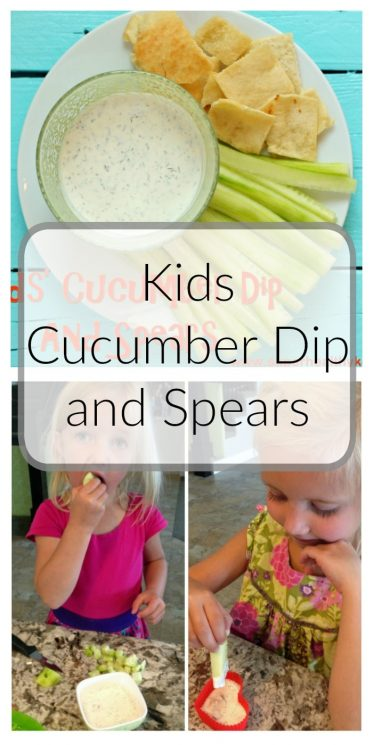 Kids Cucumber Dip and Spears