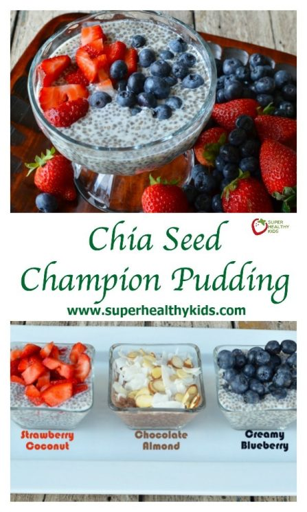 FOOD - Chia Seed Champion Pudding Recipe {Healthy Dessert for Kids}. Have your kids tried it yet? What do they think? https://www.superhealthykids.com/chia-seed-pudding-for-kids/
