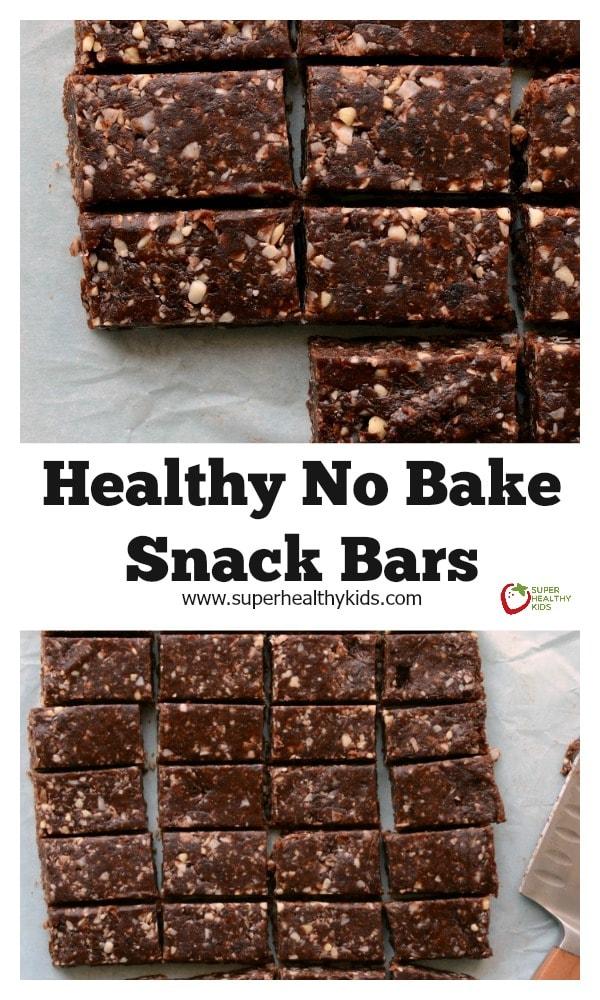 Healthy No Bake Date Bar Recipe - Super Healthy Kids