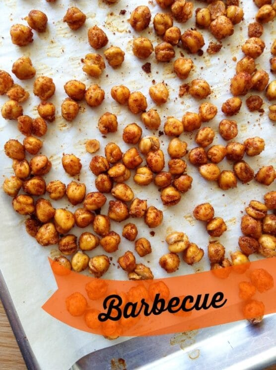 crunchy baked barbecue chickpeas