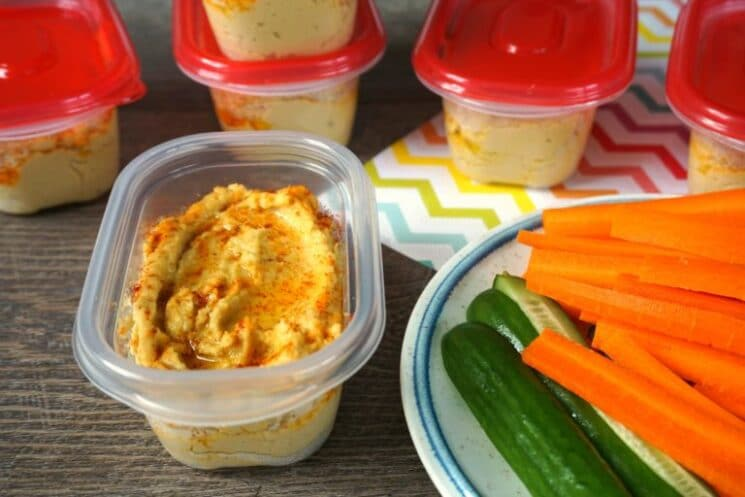 homemade lemon hummus