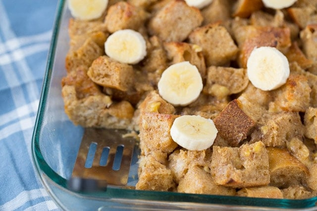 Baked Banana French Toast for a healthier breakfast