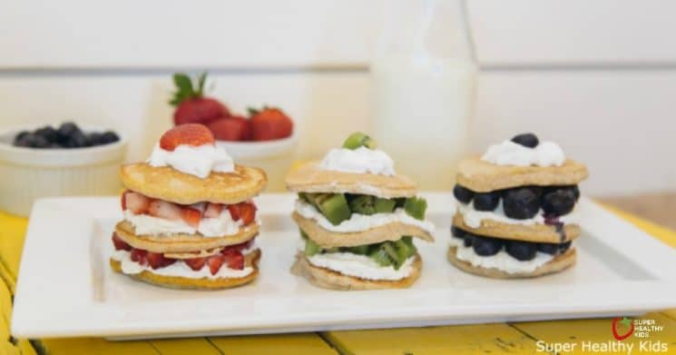 Banana Pancake Stacks. These pancake stacks make the perfect birthday (or any day) breakfast!