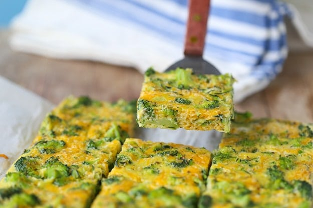 Broccoli and Zucchini Egg Bars