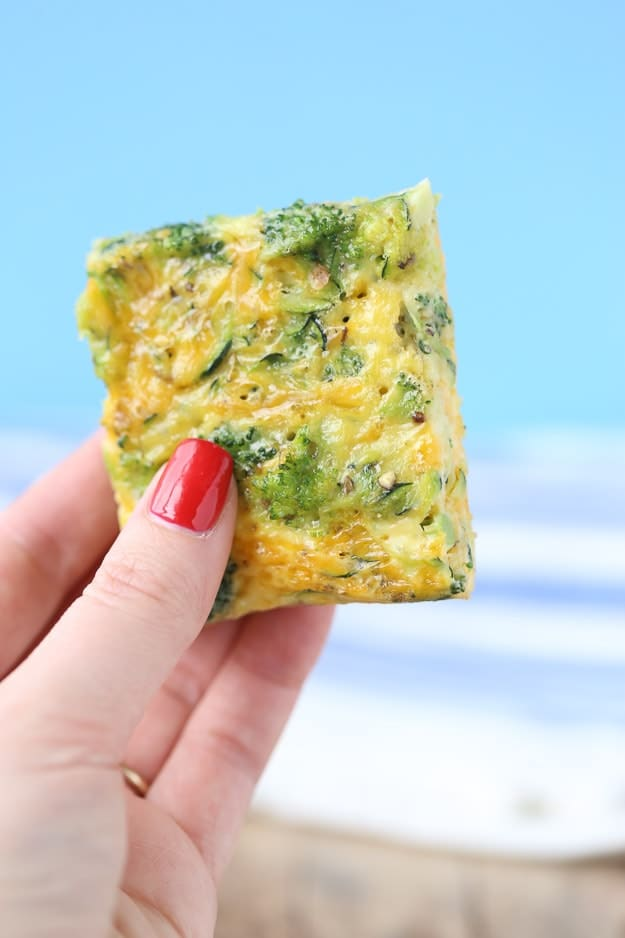 Breakfast Broccoli and Zucchini Egg Bars