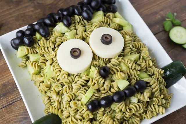 Halloween Frankenstein Pasta for kids