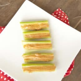 Celery with Cinnamon Almond Butter - Super Healthy Kids