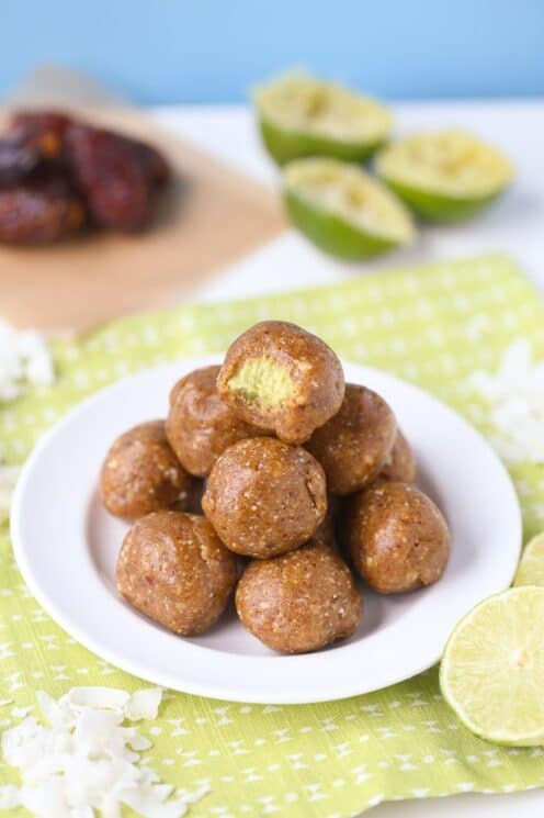 Healthy Key Lime Energy Bites