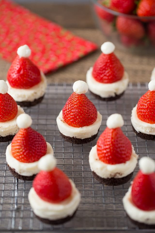 Mini No Bake Santa Cheesecakes Healthy Ideas For Kids