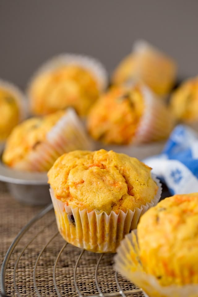 Healthy Orange Cranberry Muffins with Carrots
