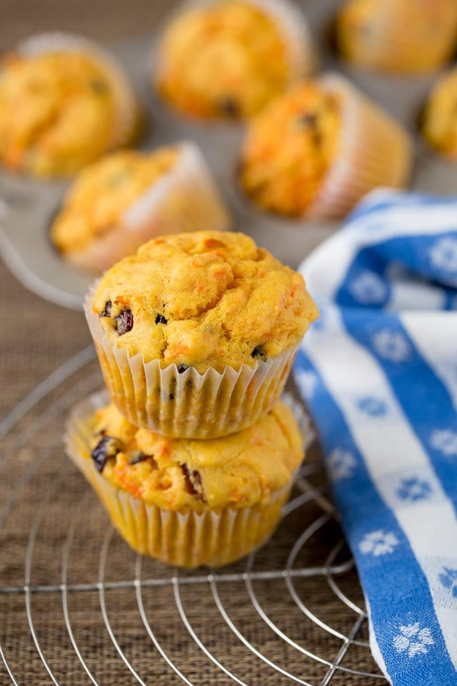 Orange Cranberry Muffins with Carrots