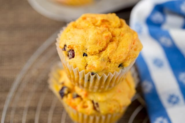 Orange Cranberry Muffins with Carrots Recipe