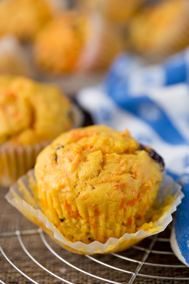 Baking Orange Cranberry Muffins with Carrots at home