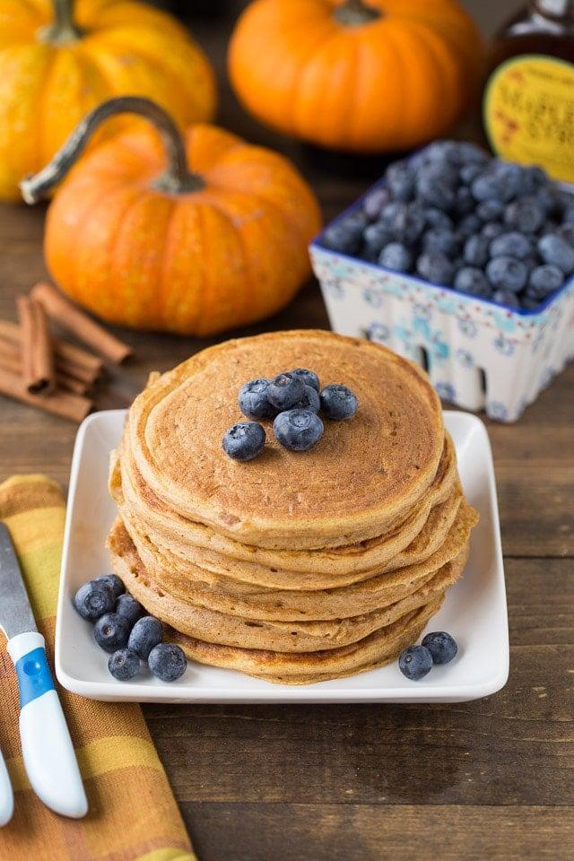 Healthy Pumpkin Protein Pancakes