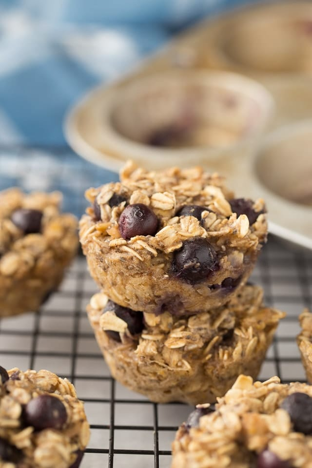 Super healthy Baked Blueberry Oatmeal Cups