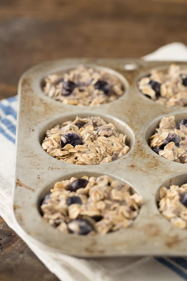How to make Baked Blueberry Oatmeal Cups