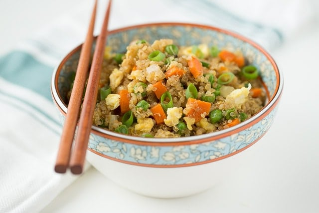 Ditch the fried rice, it's all about Fried Quinoa! Easy and fast to make but so much better for you!