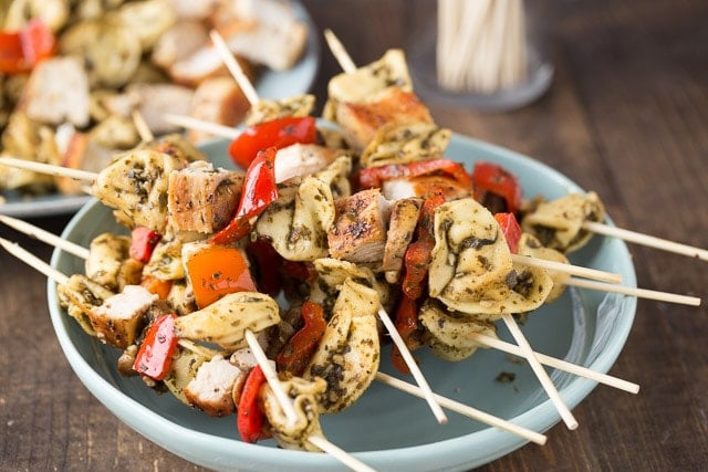 Chicken Pesto Kebabs, these are amazing and super easy to make!