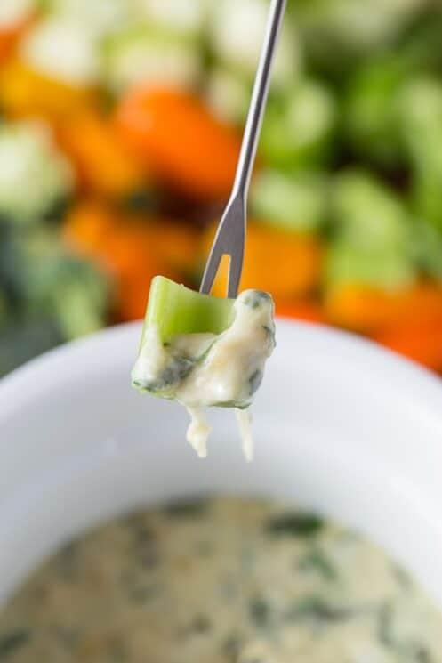 Healthy Spinach Artichoke Fondue