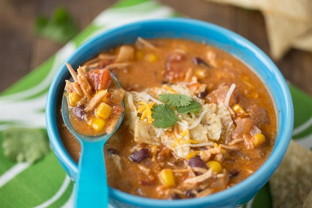 Creamy Enchilada Soup with chicken