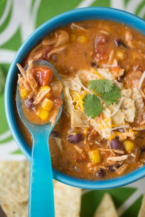 Creamy Enchilada Soup Recipe the kids will love