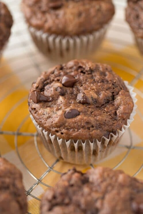 Low fat Chunky Monkey Muffins
