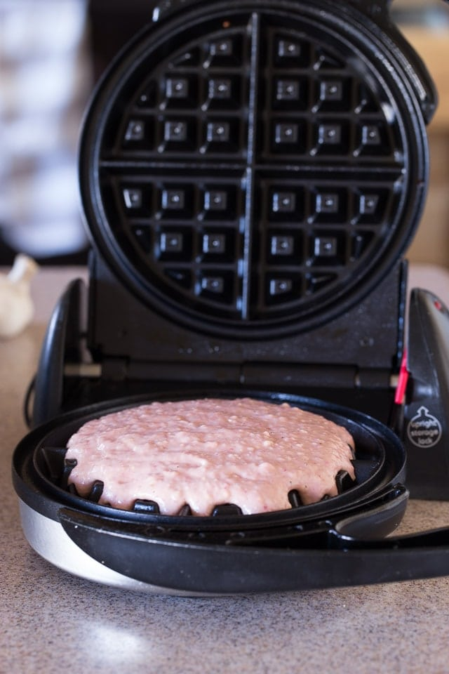 Making Strawberry Waffles, Healthy Strawberry Waffles