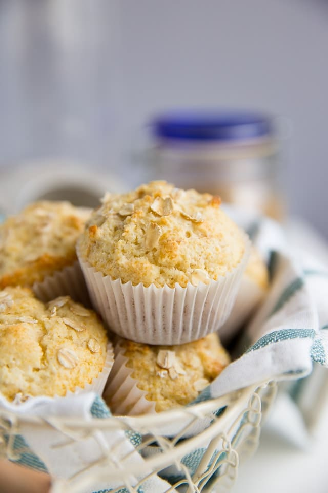 Whole Grain Maple and Brown Sugar Oatmeal Muffins