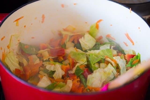 How to make Veggie Stuffed Chow Mein Bowls