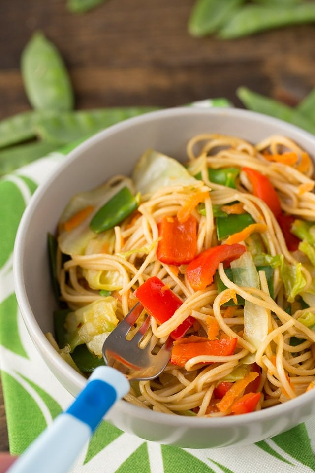 Yummy Veggie Stuffed Chow Mein Bowls