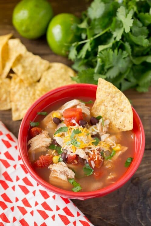 Slow Cooker Chicken Tortilla Soup and the Instant Pot Recipe too