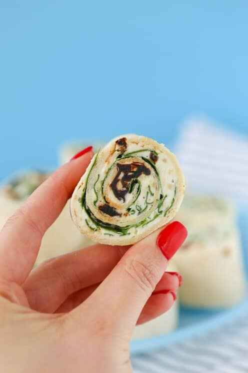 Easy to make Sun Dried Tomato Pinwheels