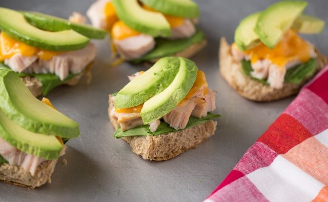 Warm Turkey Sliders with avocado