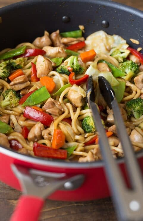 Easy to make Veggie-Packed Chicken Teriyaki Noodle Bowls