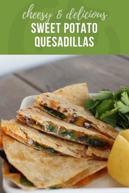 healthy lunch idea sweet potato quesadillas